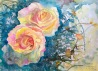 "Rose Courts the Shade 11""X15"" Original watercolor painting"